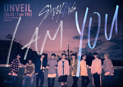 STRAY KIDS I AM YOU 3rd Mini Album 2Ver SET+POSTER+Book+Card+Pre-Order+GIFT CARD