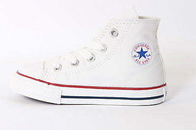 Converse Chuck Taylor All Star Hi White Infant Toddler Boy Girl Size 2-10