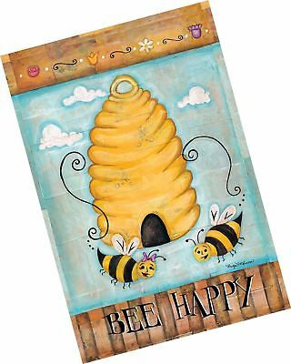 Toland Home Garden Bee Happy 28 x 40 Inch Decorative Cute Buzzing Bees Hive H...