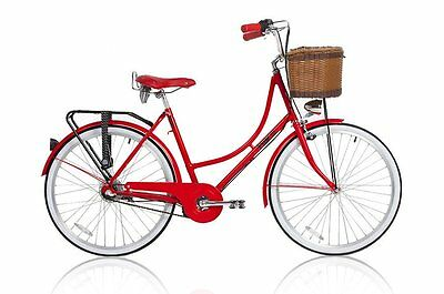 New Genuine Mojo Dutch Bike - Vintage Retro Cruiser Sturmey Arhcer Int. Hub Red