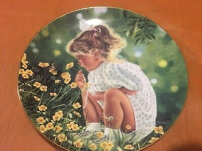 Ashley First Issue In The Treasured Days Plate Collection rimmed in 22K Gold.