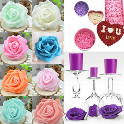 10/50Pcs Foam Rose Heads Bride Wedding Bouquet Decor Artificial Flower Floral