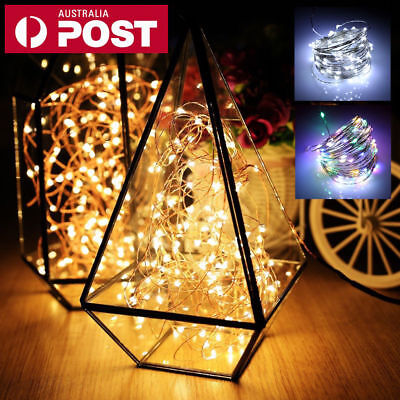 2-10 M Battery Powered Copper Wire String Fairy Xmas Party Lights Warm White AUZ