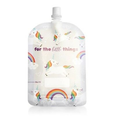 Sinchies 150ml top spout reusable food pouch pack of 5 - Unicorn  for baby food