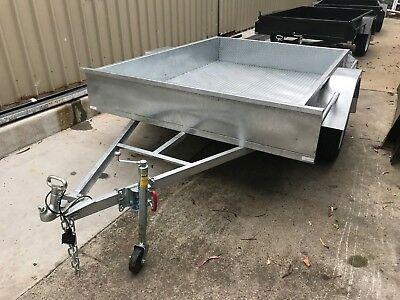 7x5 AUSTRALIAN MADE AND GALVANISED TRAILER - SINGLE AXLE - NEW WHEELS AND TYRES