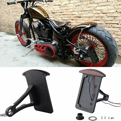 """Motorcycle 1"""" Or 3/4"""" Back Axle Side Mount LED License Plate Frame Tail Light"""