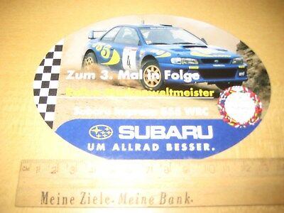 Alter Aufkleber - Sticker Colin Mc Rae Subaru Impreza 555 WRC, big ca.15x10cm