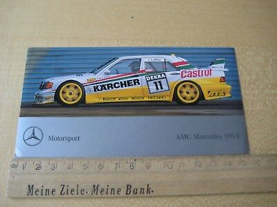Alter Aufkleber - Sticker Jacques Laffite DTM AMG Mercedes 190 E ca.15x8cm