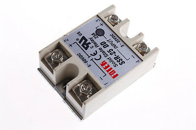 1Pcs SSR25DD Solid State Relay DC-DC 3-32V/DC 5-60V/DC with 1Pcs Heatsink
