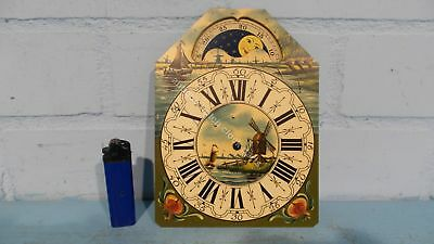 Dutch Clock Small Friesian Tail Or Schippertje Handpainted Replacement Dial 2