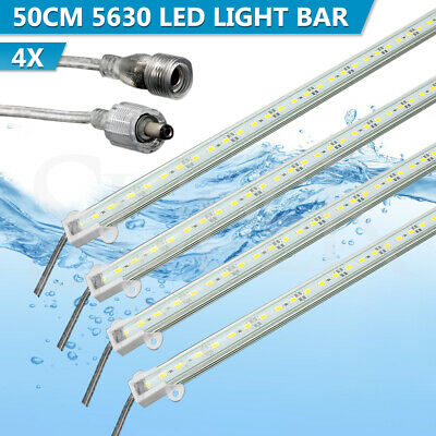 4X 12V Waterproof 5630 Led Strip Lights Bars Cool White Camping Caravan Car Boat