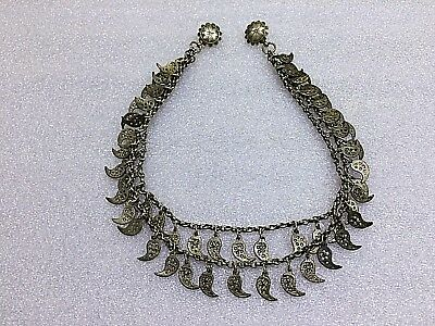 Antique Ottoman Greek  Folk Ornament Women  Decorated-Silver 800-Handmade-100 Y
