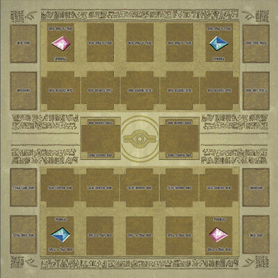 Yugioh Card Two Player Double Playmat 60x60cm Rubber Egypt Mural Style Play Mat