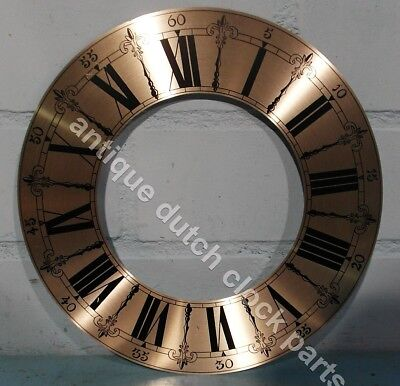 "REPLACEMENT SILVERED DIAL CHAPTER RING FOR CLOCK 10"" 25,5 cm"