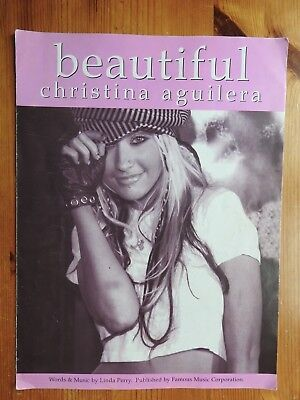 Beautiful Sheet Music Piano Vocal Christina Aguilera NEW 000352584