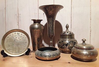 Collection of antique and vintage middle eastern brassware