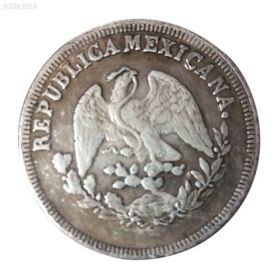1F35 Mexico45mm Silver Coins Eagle Hold Snake Sheep CollectionForeign Vintage