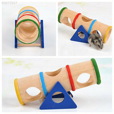 F835 Funny Wooden Colorful Seesaw Cage House Play Toy Hamster Gift Supplies