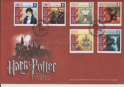 Unaddressed Isle of Man FDC First Day Cover 2005 Harry Potter & Goblet of Fire