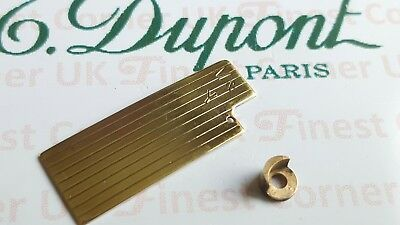 S T DuPont Lighter's Parts For Under Lids line 1 Large & Small Gold VGC C07