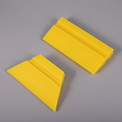 2 Pcs Rubber Squeegee Yellow Water Wiper Rubber Window Tint Car Wrapping Tools