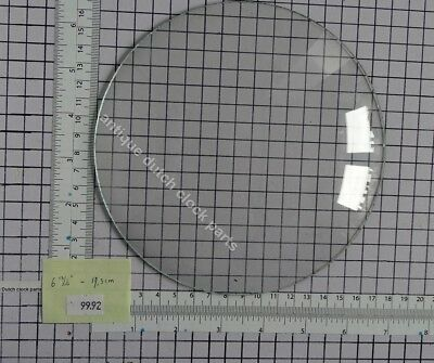 "ROUND CONVEX GLASS FOR CLOCK FACE  6 13/16"" or 17,3 cm across"
