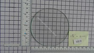 "ROUND FLAT GLASS FOR CLOCK DIAL FACE 3 11/16"" or 9,3 cm across"