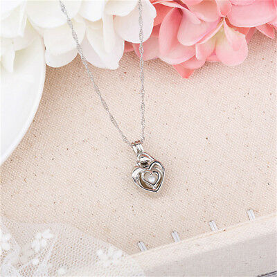 Glow in Dark Cute Silver Toned Pendant Necklace Luminous Choker Charm Gift BS