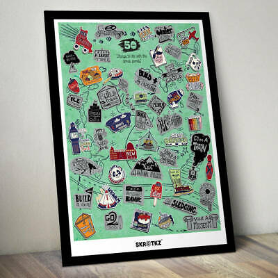 SKRATKZ - 51 Things to do with your family - Scratch off poster CLEARANCE PRICE