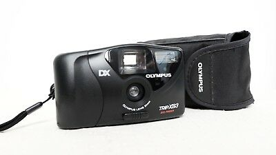 OLYMPUS TRIP AF S2 35mm film point and shoot camera with case lomo retro