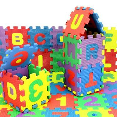36 Pcs Baby Kids Educational Alphanumeric Puzzle Mat Small Size Child Toy Gifts