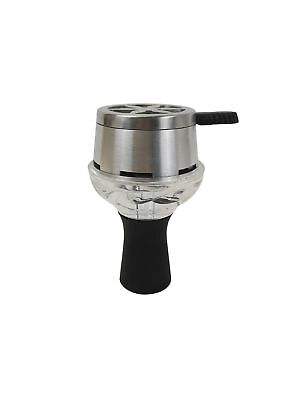 Smokah Magic Head 25147 Tonkopf Glas Metall Aufsatz Kohle Glasaufsatz Shisha