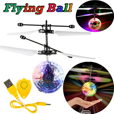 Magic Led Ball Lamp Helicopter Flying Flash Light Remote Toys Children Toy