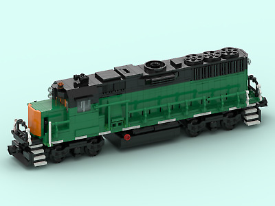 Custom Lego Train Burlington Northern Gp50 Instructions Only W