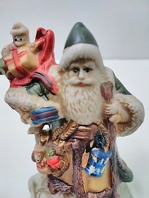 Santa's Of The Nations Porcelain Figurine Santa GERMANY Green Santa Suit 1991
