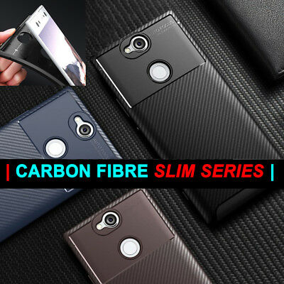 Case for Sony Xperia XA2 XZ2 Soft Silicone Shockproof Best Carbon Fibre Cover