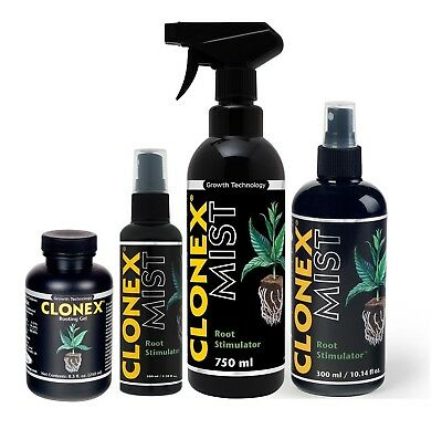 Clonex Rooting Hormone Gel And Mist For Cuttings Hydroponic Growing