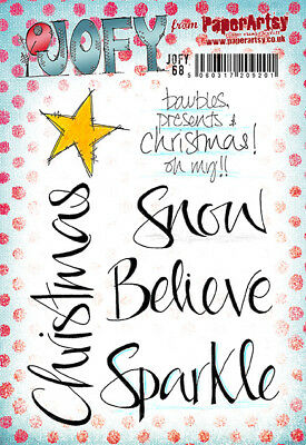 PAPERARTSY A5 RUBBER MOUNTED STAMP SET JOFY68 Jo Firth-Young Christmas Words