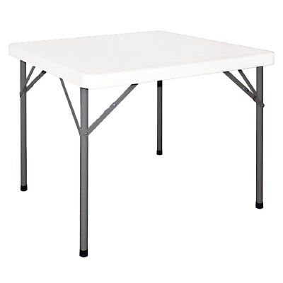 Bolero Foldaway Square Table 745x880x880mm White | Indoors Outdoors Furniture