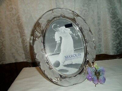"""NIB Gorgeous """"WATERFORD""""  Marquis """"FLORAL LEAD CRYSTAL OVAL PICTURE FRAME"""