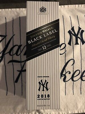 Johnnie Walker Black Label- NY Yankees 2018 Limited Edition. Awesome Gift!