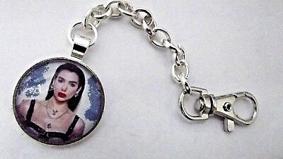 Dua Lipa  Photo Key Ring Strong Chain Singer  Silver Plated Gift Boxed Party