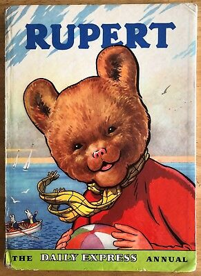 RUPERT ORIGINAL ANNUAL 1959 Inscribed Not Price Clipped Painting Untouched G/VG
