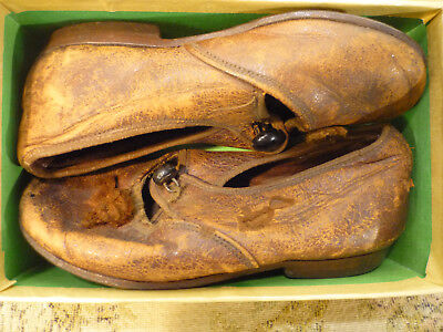 """Antique Rabbits & Sons London Maker Label Victorian Leather Mary Jane Shoes 5"""""""