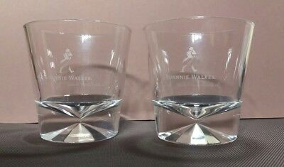 """X2 Johnnie Walker Limited Edition tumbler glasses """"Our blend cannot be beat"""" NEW"""