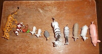 11-lot misc. farm and wild animals in good shape used