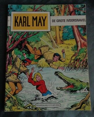 KARL MAY 22 de grote ivoorsnavel 3/12/1976 Willy Vandersteen strip stripalbum