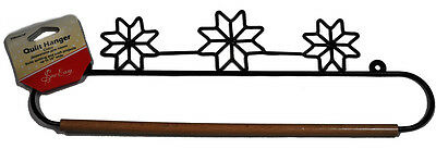 Sew Easy 14 Inch Black Star Patch Quilt Hanger HQH03