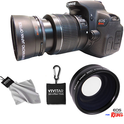 Wide Angle Macro Lens +Clip On Cloth Xti For Canon 1200D T3 T3I T4 T5 T6 7D 6D