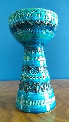 Large Bitossi Aldo Londi Rimini Blue Candle Holder